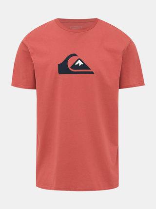 Oranžové tričko s potiskem Quiksilver Comp