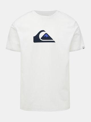Bílé tričko s potiskem Quiksilver Comp