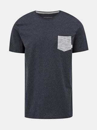 Tmavě šedé tričko s kapsou Quiksilver Choppy