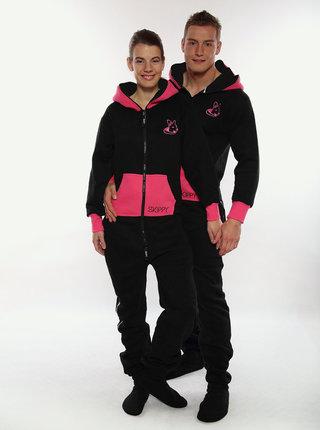 Ružovo-čierny overal SKIPPY