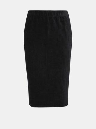 Černá manšestrová sukně VERO MODA Amanda