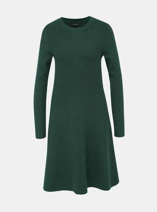 Tmavě zelené svetrové šaty VERO MODA Nancy