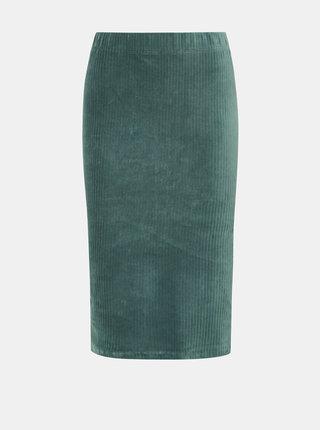 Světle modrá manšestrová sukně VERO MODA Amanda