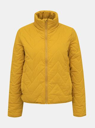 Žlutá prošívaná bunda Noisy May Odette