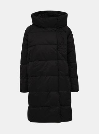 Černý prošívaný zimní kabát ONLY June