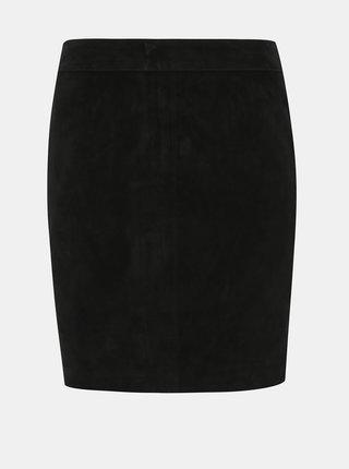 Čierna semišová púzdrová sukňa Noisy May Wren