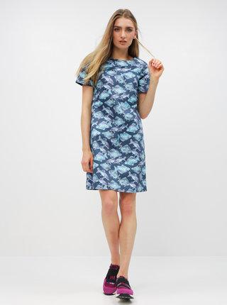 Tmavomodré šaty s motívom kaprov annanemone