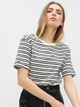 Bílé pruhované tričko Jacqueline de Yong Lucky