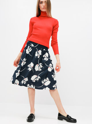 Tmavomodrá kvetovaná sukňa Jacqueline de Yong Layla