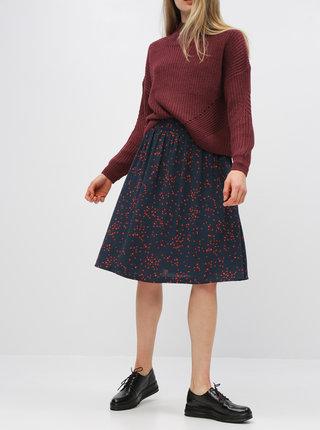Tmavomodrá vzorovaná sukňa Jacqueline de Yong Layla