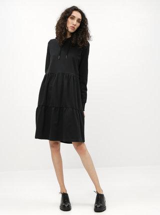 Čierne mikinové šaty s kapucou Noisy May Eda