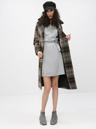 Hnědý kostkovaný kabát Noisy May Chick