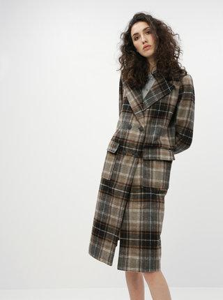 Hnedý kockovaný kabát Noisy May Chick