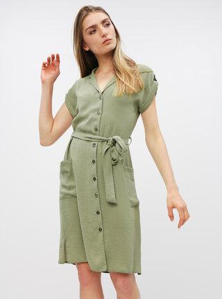 Khaki košilové šaty Dorothy Perkins