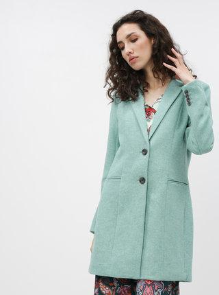 Tyrkysový kabát s příměsí vlny ONLY Carmelita