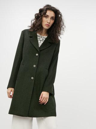 Tmavozelený vlnený kabát Selected Femme Sasja