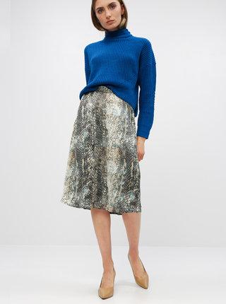 Béžovo-šedá sukně s hadím vzorem Jacqueline de Yong Sean