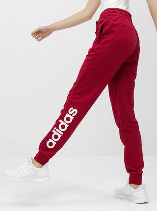 Červené dámské slim fit tepláky adidas CORE