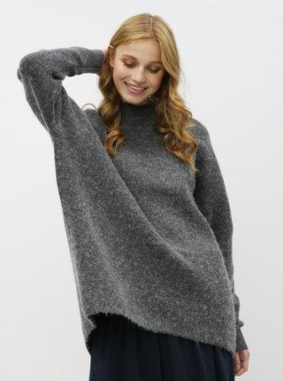 Tmavošedý basic sveter s prímesou vlny Selected Femme Fenica