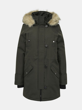 Kaki zimná parka VERO MODA Excursion