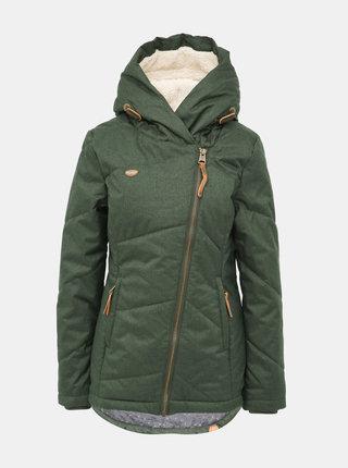 Tmavě zelená dámská funkční zimní bunda Ragwear Gordon