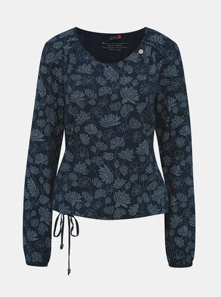 Tmavě modré květované tričko Ragwear Brisha