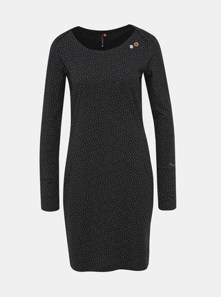 Černé vzorované šaty Ragwear River