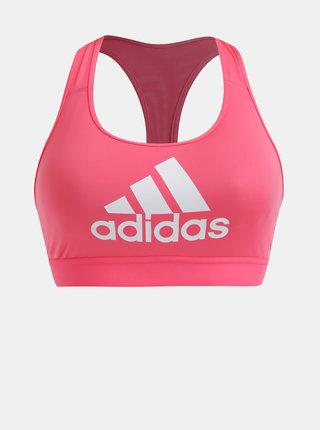 Růžová sportovní podprsenka adidas Performance