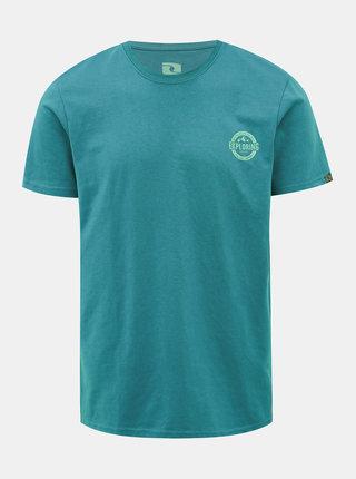 Modré pánske tričko s potlačou LOAP Beret