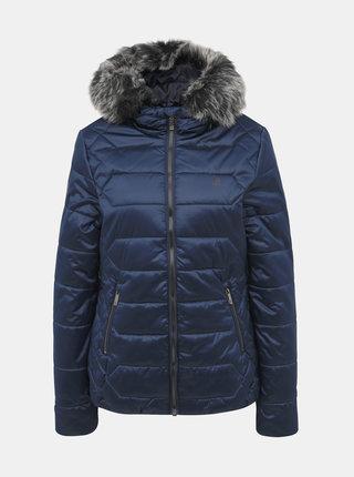 Tmavě modrá dámská prošívaná zimní voděodpudivá bunda LOAP Tasia
