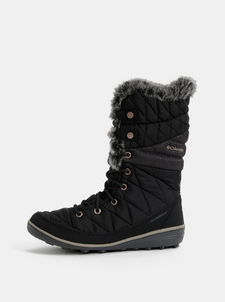 Černé dámské zimní nepromokavé boty Columbia Heavenly