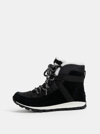 Čierne dámske semišové zimné nepromokavé topánky SOREL Whitney