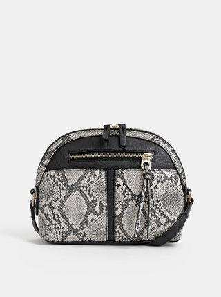 Šedá crossbody kabelka s hadím vzorom Dorothy Perkins