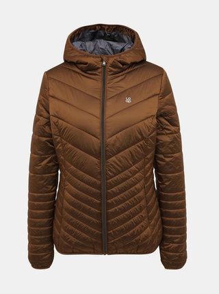 Hnědá dámská prošívaná voděodpudivá zimní bunda LOAP Idiana