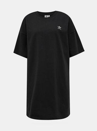 Čierne šaty adidas Originals Trefoil