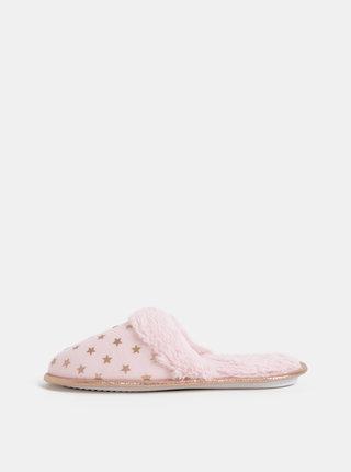Rúžové vzorované šľapky Dorothy Perkins