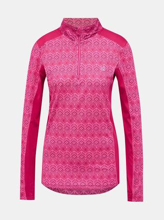 Rúžové dámske vzorované termo tričko LOAP Patima