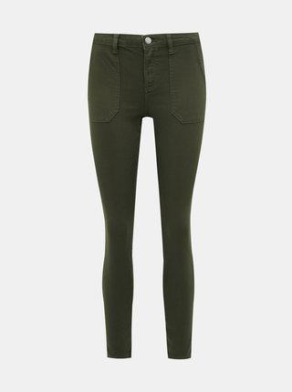 Khaki zkrácené skinny fit džíny Dorothy Perkins