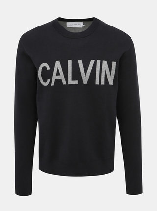 Čierny pánsky sveter Calvin Klein Jeans