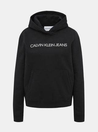 Čierna dámska mikina s potlačou Calvin Klein Jeans