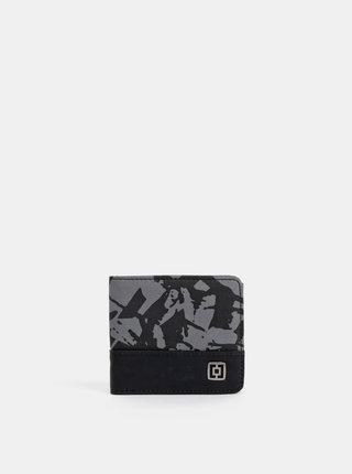 Černo-šedá pánská vzorovaná peněženka Horsefeathers Terry