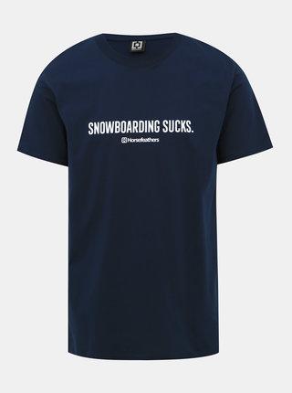 Tmavě modré pánské tričko s potiskem Horsefeathers Snowboardings