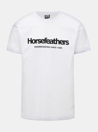 Biele pánske tričko s potlačou Horsefeathers Quarter