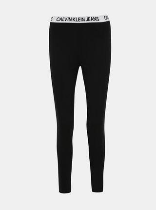 Čierne dámske skrátené legíny Calvin Klein Jeans