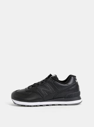 Černé pánské kožené tenisky New Balance 574