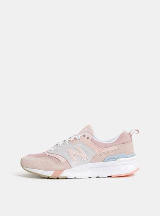 Růžové dámské semišové tenisky New Balance 997H