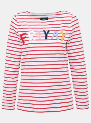 Červeno-biele pruhované tričko s nášivkou Tom Joule