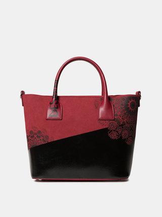 Čierno-červená kabelka s potlačou Desigual