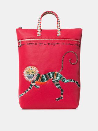 Červený batoh s flitrami Desigual