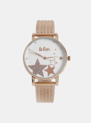 Dámské hodinky s kovovým páskem v růžovozlaté barvě Lee Cooper
